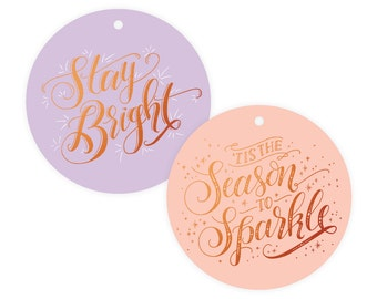 Party Copper Foil Gift Tag Pack