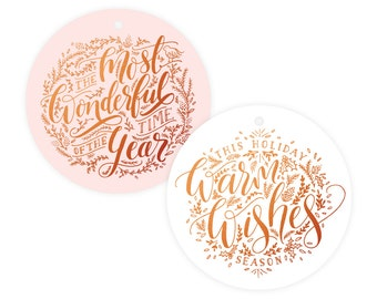 Holiday Copper Foil Gift Tag Pack