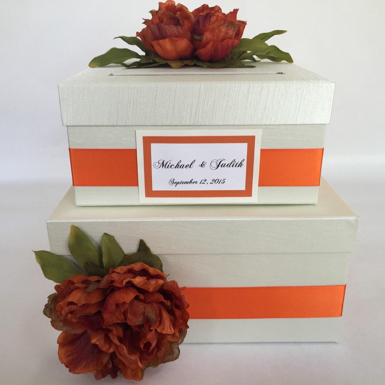 orange wedding card box - 28 images - pink orange wedding card box ...