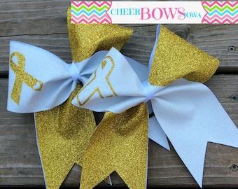 CHILDHOOD CANCER AWARENESS Bow