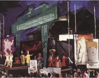 "circus-Aba-Nov-k-Vilmos_1930_hungary 11 X 14""  canvas art print"