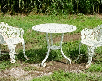 Iron Patio Set Antique Table And Chairs