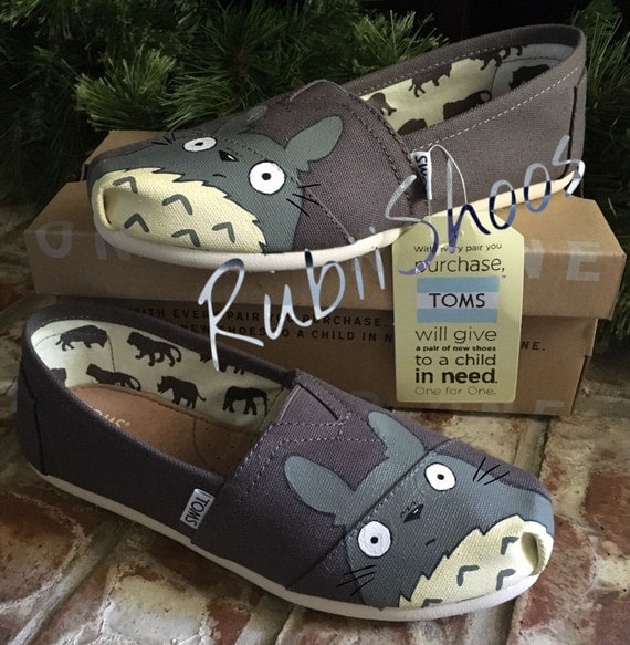 Toms- hand painted Totoro Custom Shoes