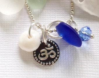 Seaglass Jewelry OM Charm Necklace