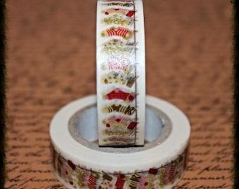 Christmas Stocking - Japanese Washi  - Paper - Masking - Tape - 10 Metres
