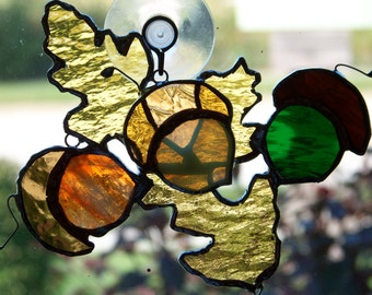 Stained Glass Fall Suncatcher