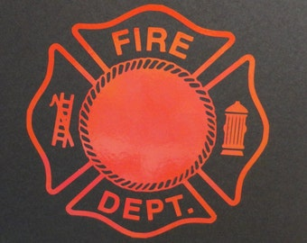 Fire Department Car Decal