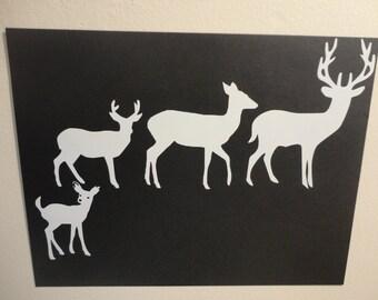 Deer Family Decals