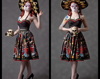 "Day of the Dead ""Maria"" skirt"