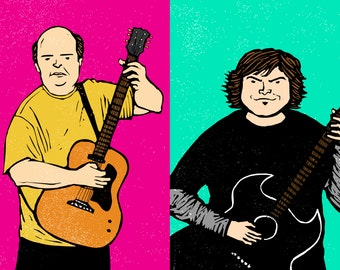 Tenacious D - Signed Limited Edition Giclee Print A4 & A3