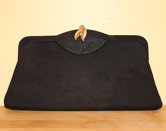 Vintage 1950s-60s Black Clutch