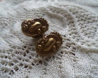 Antique Brass Edwardian Cufflinks