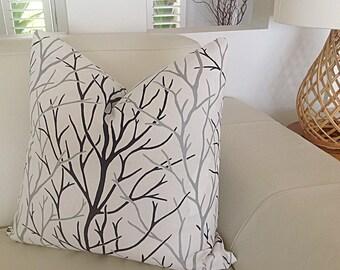 Black & White Cushions Branches Modern Cushion Cover Modern Pillows Alberi Pillows Grey Scatter Cushion,