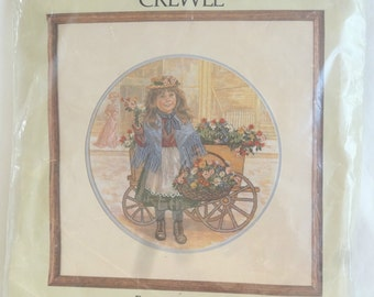 Vintage 1981 Something Special Crewel Kit Forget Me Nots