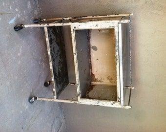 Vintage Industrial Cart / / Repurposed Bar Cart / / Heavy Duty Cart / /