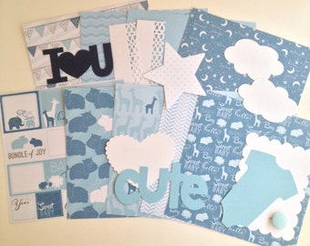 Baby Boy Card Stock and Die Cut Kit
