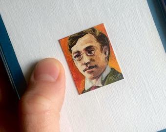 Mini Kandinsky Portrait Painting, Framed