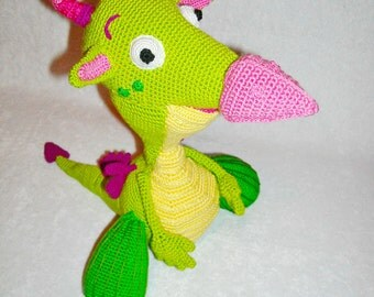 cute dragon Draco from Baby TV channel. Crochet draco, dragon Amigurumi