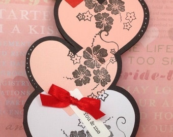 "Hearts greeting card ""You & Me"""