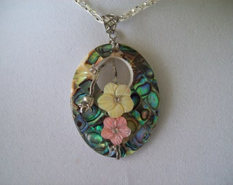 Abalone Pendant with chain