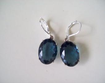 Sterling Silver Earrings - London Blue