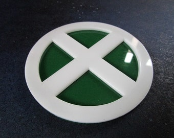 Rouge Mutant Belt Buckle Top X-Men Circle White on Green
