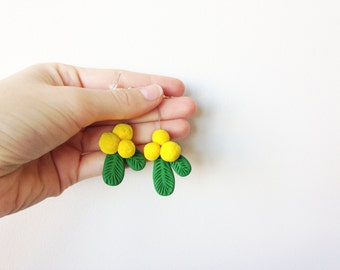Wattle Blossom Earrings - Single or Pair