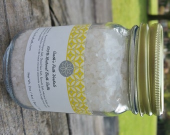 Dead Sea Salt. Lemon Grass. Dead Sea Salts Made with Essential Oils. 8oz or 16oz jar of Bath Salts