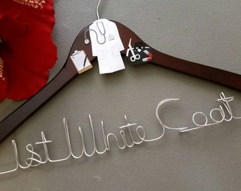 Personalized Doctor Hanger, New Graduate or The Soon to Be Doctor, 1st White Coat Hanger, Doctor 1st White Coat Ceremony, Gift for Doctors