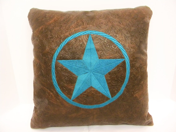 Decorative Western Throw Pillows : Turquoise Pillow Star Pillow Western Pillow Decorative