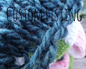Custom Listing for L - Fuzzy ribbed scarf