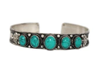Turquoise bracelet Tibetan bracelet Nepal bracelet bohemian bracelet Tibet bracelet boho bracelet Nepalese Bracelet gypsy bracelet B774