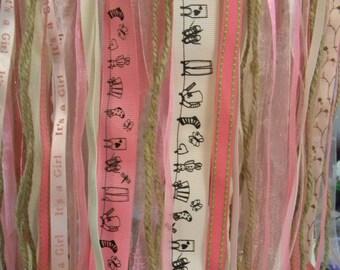 Baby Girl - Pink Ribbon Mobile