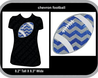 Chevron Print Football  SVG Cutter Design INSTANT DOWNLOAD