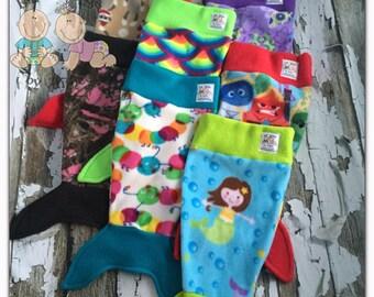 REDUCED - Fleece Baby Doll Mermaid Tail Blanket Infant Prop
