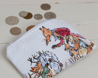 Fantastic Mr Fox coin purse, personalised Fantastic Mr Fox coin purse, Kids coin purse, Fantastic Mr Fox, stocking filler