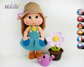 PATTERN  - Mia The Gardener (includes body with clothes and accesories)