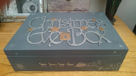 Personalized Hand Painted Christmas Eve Box