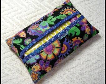 Tissue Holder - Pocket Tissue Holder - Tissue - Kleenex - Flower Fabric Tissue Holder - Cotton Fabric - Modern Fabric - TC76
