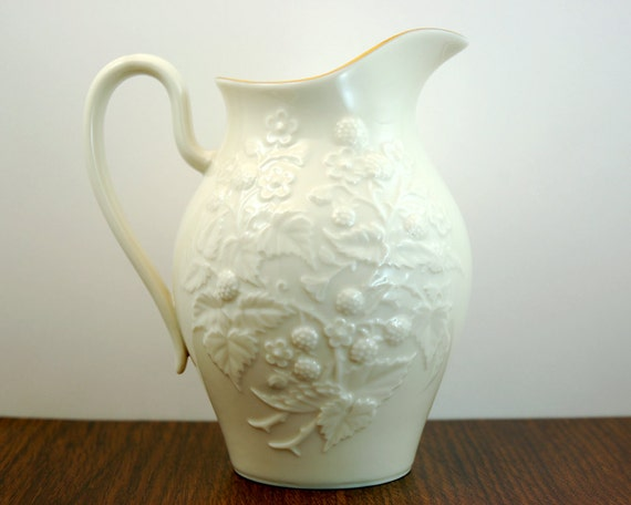 Vintage Lenox Pitcher Vase Usa Porcelain 6 1 2 Inch Milk Or