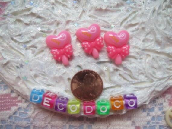 0: )- CABOCHON -( Rainbow Heart Lolipops