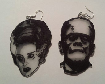 Frankenstein and Bride Earrings