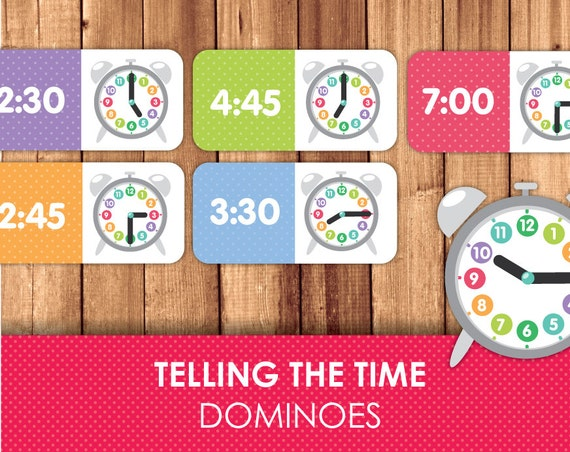 telling time dominoes printable dominoes printable games telling time learning what time. Black Bedroom Furniture Sets. Home Design Ideas
