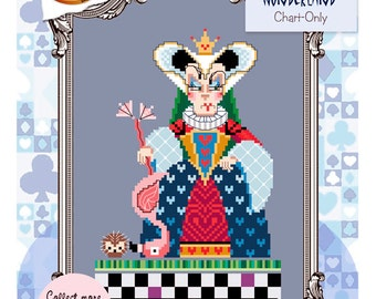 Brooke's Books Wonderland Queen of Hearts Cross Stitch Chart-Only (Instant Download)