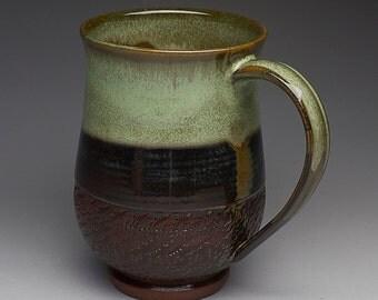 Large Textured Mossy Waterfall Mug
