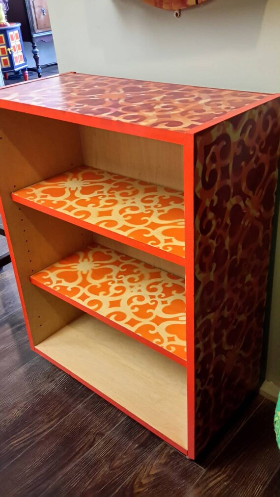 funky bookcase by fabandfunky77 on etsy