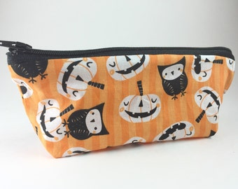 Reusable Snack Bag, Washable Snack Pouch, Halloween Lunch, Food Safe Snack Bag