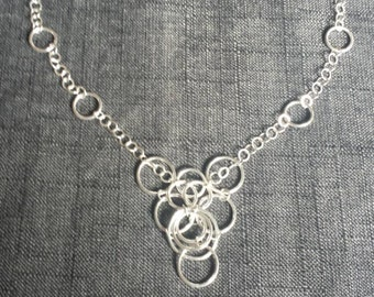 Circles Sterling Silver Necklace