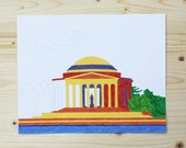 Paint By Number - 8x10 - Jefferson Memorial - Washington, DC