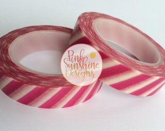 White with Fuchsia Pink Washi Tape 10mm x 10m